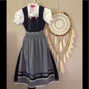 ❄️Krüger Kinderdirndl mit Bluse marine❄️
